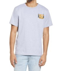 bp. men's connect graphic tee, size large - grey