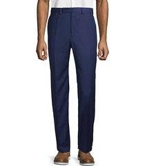 classic flat-front pants