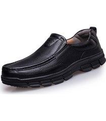 uomo casual oxford scarpe da business in pelle slip-on a taglia forte
