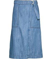 blerina sk knälång kjol blå part two