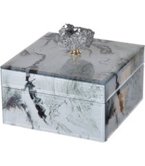 white marbled jewelry case, small