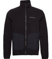 m tech soft zip fells view sweat-shirts & hoodies fleeces & midlayers zwart peak performance