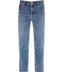 re/done high rise jeans ankle crop x levis
