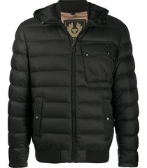 belstaff multi-pocket padded jacket - black