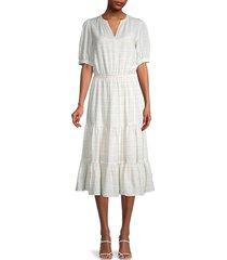 tommy hilfiger women's prism ripple dress - ivory - size 2