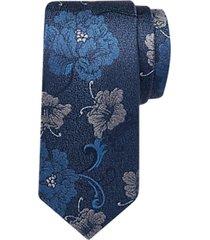 joseph abboud navy floral narrow tie