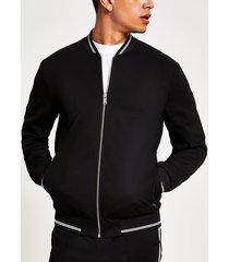 river island mens black skinny fit bomber jacket