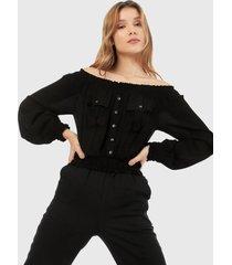 blusa negro active