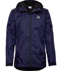 classics windbreaker fz outerwear sport jackets blå puma