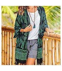 rayon batik kimono, 'raindrops' (indonesia)