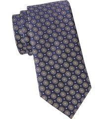 eton men's floral silk tie - blue