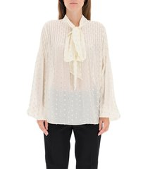 fil coupe shirt with lavalliere