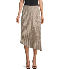 sanctuary women's printed midi skirt - mini leopard - size xs