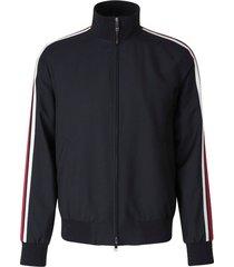striped zip-up jacket