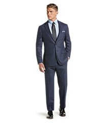 1905 collection slim fit tic windowpane men's suit with brrr°® comfort - big & tall clearance by jos. a. bank