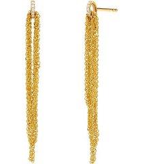 eclipse 14k gold & diamond draped chain earrings