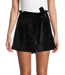 laurine velvet paperbag shorts