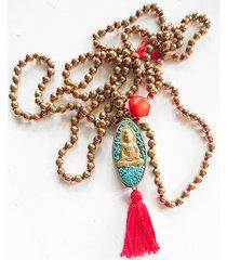 buddha beads /// długi naszyjnik z buddą