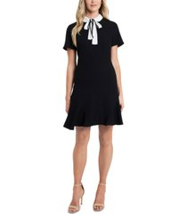 cece bow-collar a-line dress