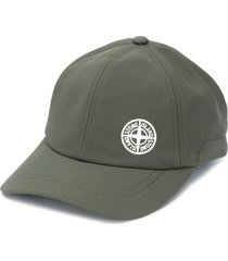 stone island drawstring logo print cap - green