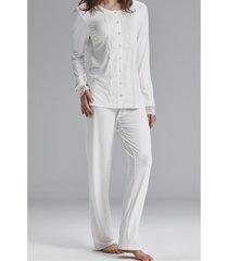 pyjama's / nachthemden admas homewear pyjama set premama ivoorkleurige adma's