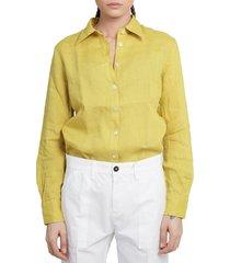 massimo alba mustard mias3 shirt
