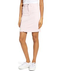 women's jen7 by 7 for all mankind denim pencil skirt, size 10 - pink