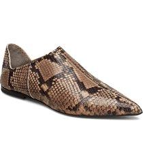 medina slipper loafers låga skor brun hope