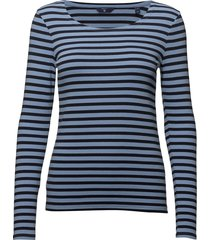 1x1 rib ls t-shirt t-shirts & tops long-sleeved blauw gant