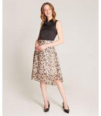 falda en a estampada animal print