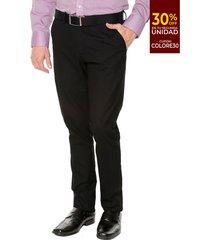 pantalón formal negro colore