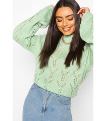 pointelle oversized sweater, sage