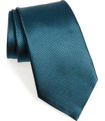 men's ermenegildo zegna geometric silk tie, size regular - blue