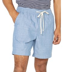 "nautica men's classic-fit 7"" chambray boardwalk shorts"