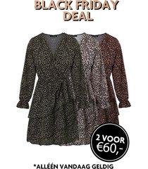 exclusive deal jurken met panterprint