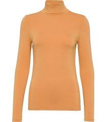 hanadi rollneck ls t-shirts & tops long-sleeved orange soaked in luxury