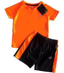 conjunto oto 479 naranja con negro