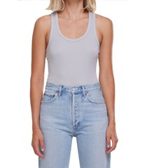 agolde ribbed tank bodysuit, size medium in high rise at nordstrom