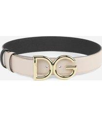 dolce & gabbana leather belt with dg logo