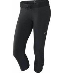 pantalón capri nike relay 503474-010 negro para mujer