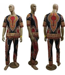 men's dashiki wax pant set