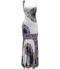 falda delgada estampada falda de playa vestido sin mangas para mujer