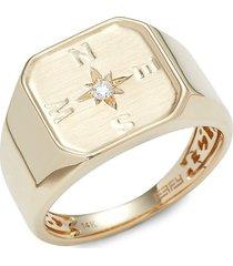 effy men's 14k yellow gold & 0.05 tcw diamond ring/size 10 - size 10