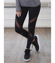 black yoga pants quick-drying mesh stitching legging