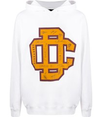 dsquared2 varsity logo hoodie - white