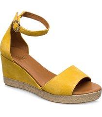 espadrilles 4332 sandalette med klack espadrilles gul billi bi