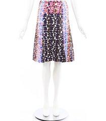peter pilotto multicolor printed a-line skirt purple/multicolor/geometric sz: custom