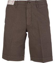 brown cotton man bermuda shorts