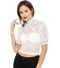 blusa eclipse ml blanco - calce ajustado