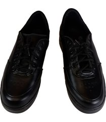 tenis zapato zapatillas colegio colegial negro sintético
